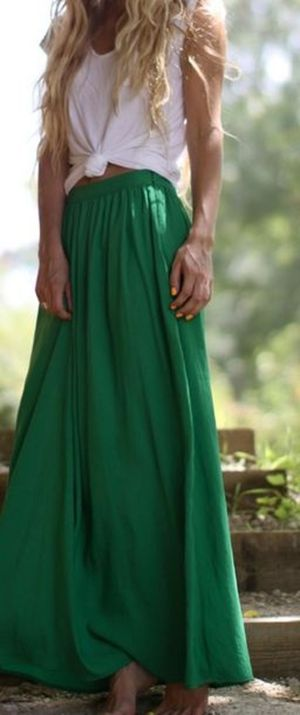 Summers casual maxi skirts ideas 40