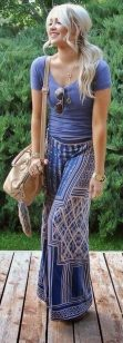 Summers casual maxi skirts ideas 57