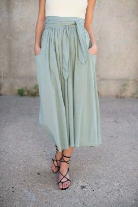 Summers casual maxi skirts ideas 61