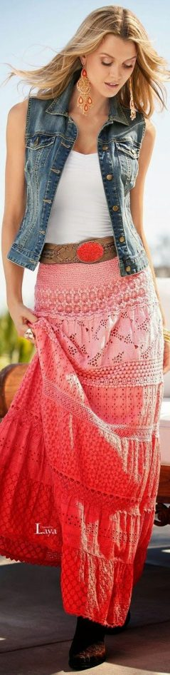 Summers casual maxi skirts ideas 67