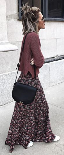 Summers casual maxi skirts ideas 8