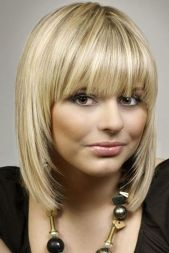 Awesome full fringe hairstyle ideas for medium hair 2