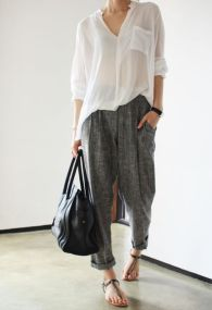 Awesome oversized white shirt outfit style ideas 19