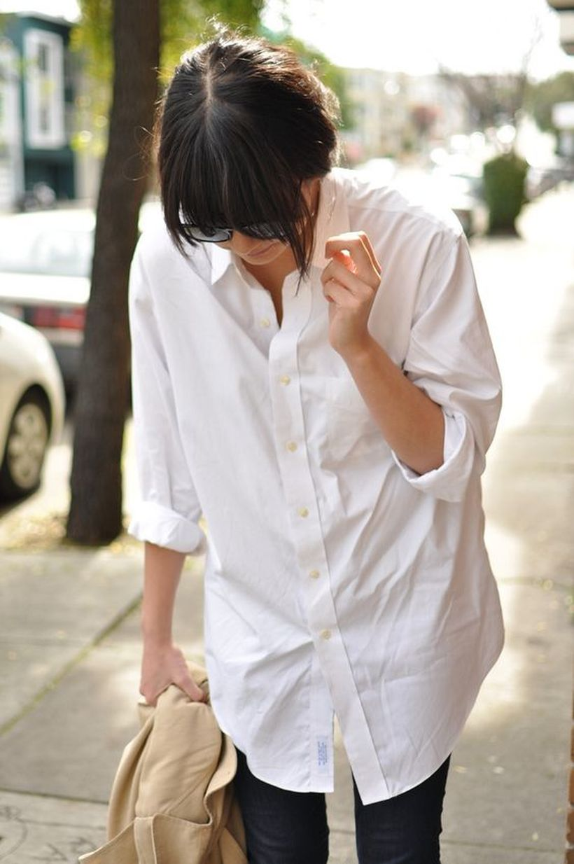 Awesome oversized white shirt outfit style ideas 21