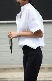 Awesome oversized white shirt outfit style ideas 23