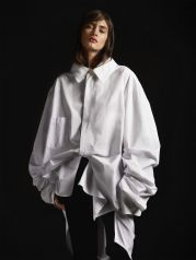 Awesome oversized white shirt outfit style ideas 32