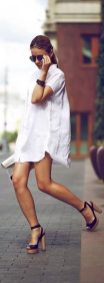 Awesome oversized white shirt outfit style ideas 39