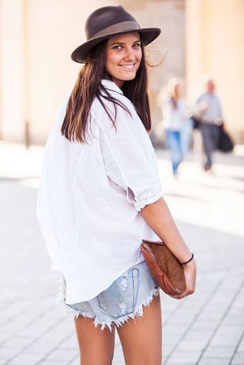 Awesome oversized white shirt outfit style ideas 6