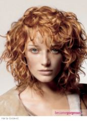 Beautiful curly layered haircut style ideas 17
