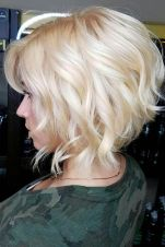 Beautiful curly layered haircut style ideas 64