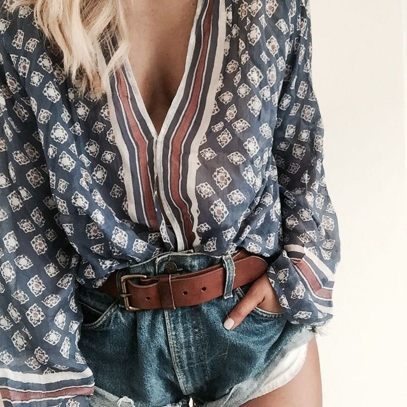 Best high waisted short denim outfits style 68