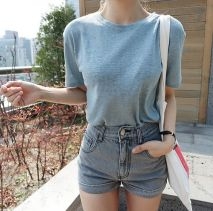 Best high waisted short denim outfits style 69