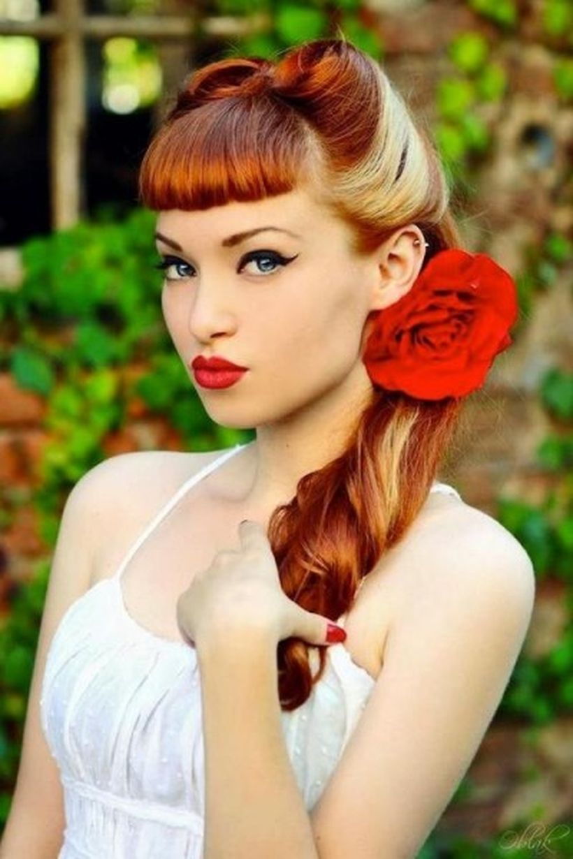 Breathtaking vintage rockabilly hairstyle ideas 114