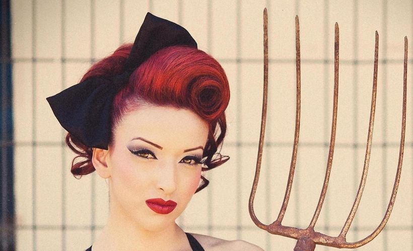 Breathtaking vintage rockabilly hairstyle ideas 116
