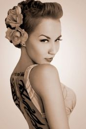 Breathtaking vintage rockabilly hairstyle ideas 24