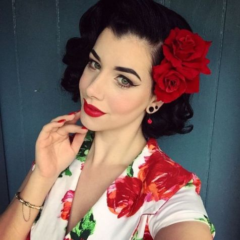 Breathtaking vintage rockabilly hairstyle ideas 7