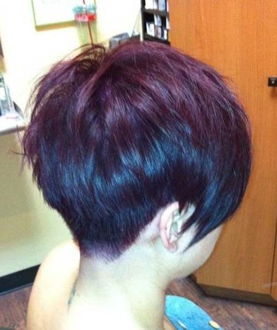 Cool back view undercut pixie haircut hairstyle ideas 12