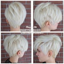 Cool back view undercut pixie haircut hairstyle ideas 16