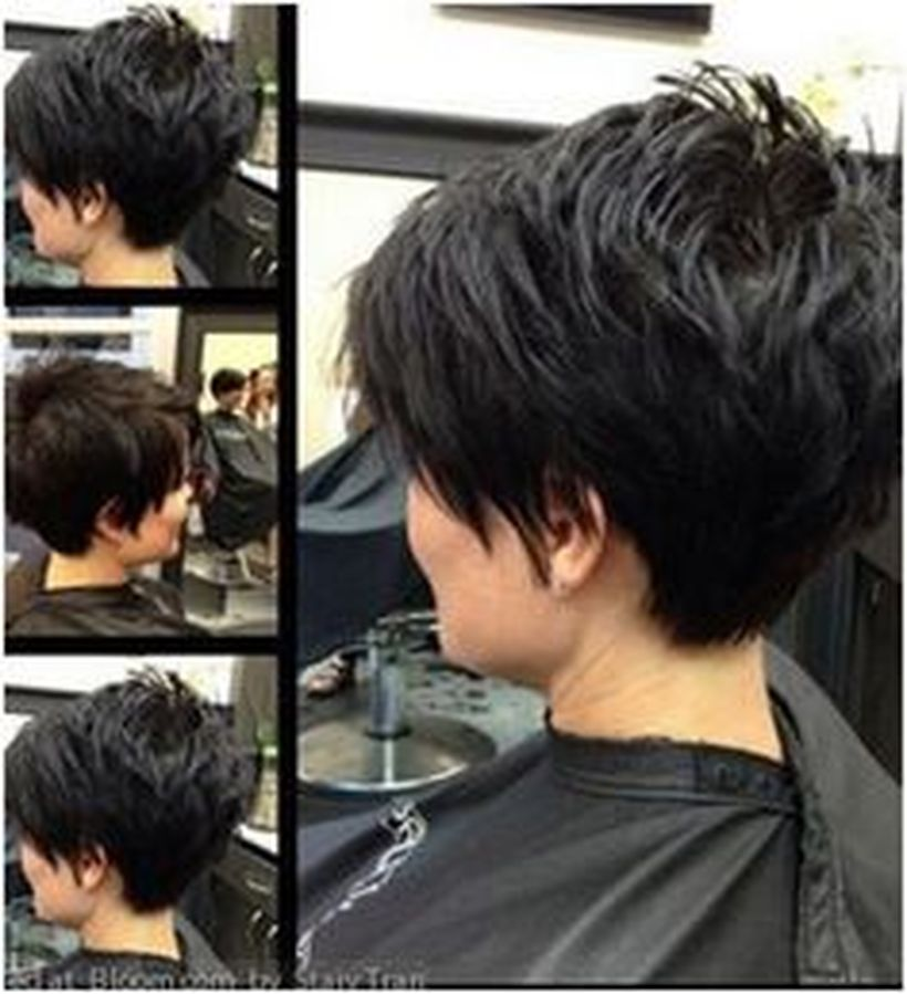 Cool back view undercut pixie haircut hairstyle ideas 22