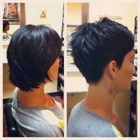 Cool back view undercut pixie haircut hairstyle ideas 38