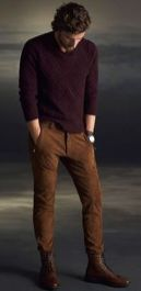 Cool men sweater outfits ideas 13