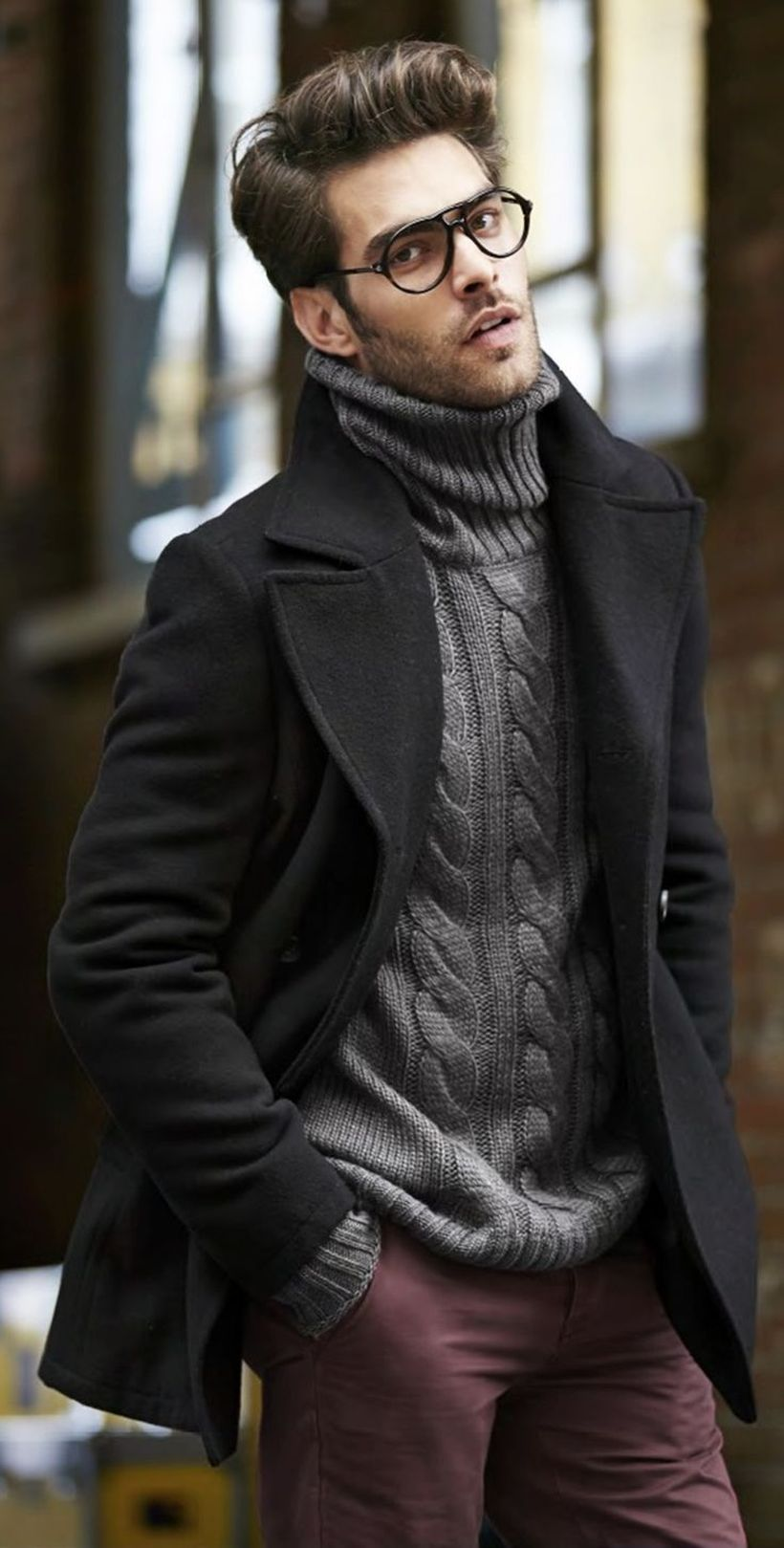 Cool men sweater outfits ideas 15