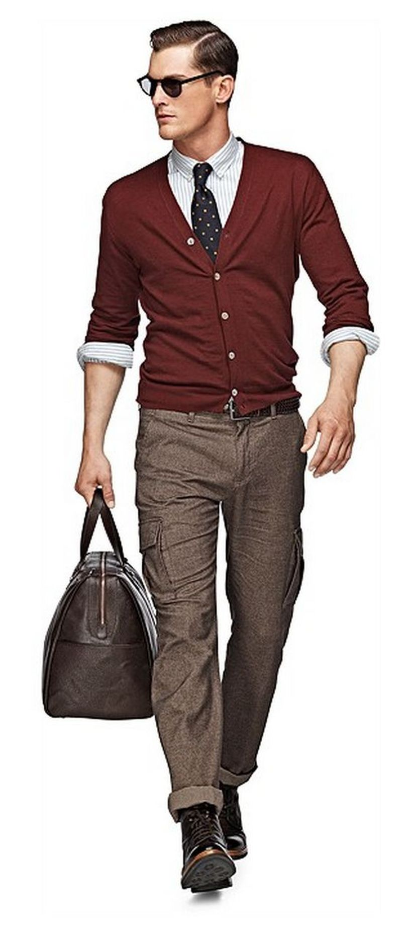 Cool men sweater outfits ideas 29