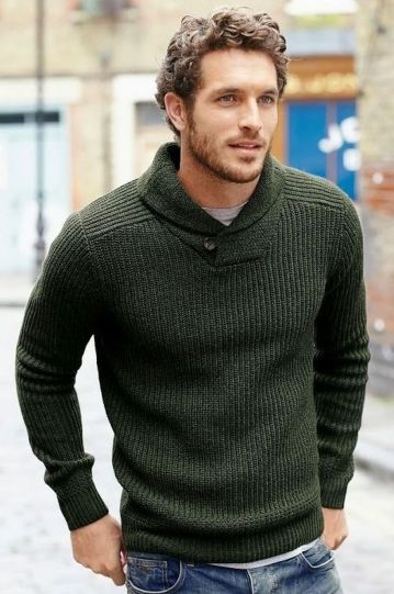 Cool men sweater outfits ideas 4