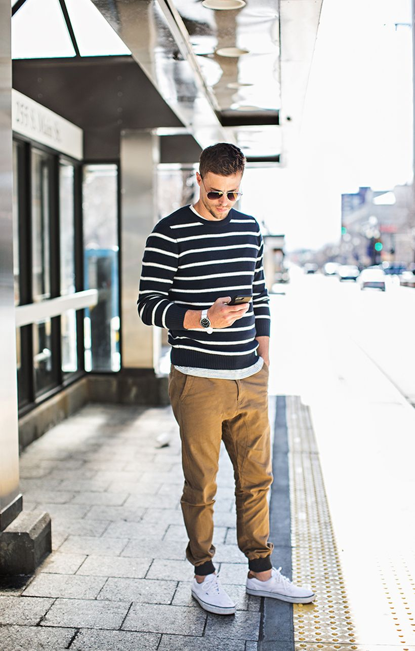Cool mens joggers outfit ideas 18