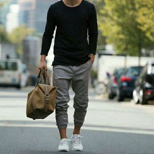 Cool mens joggers outfit ideas 2