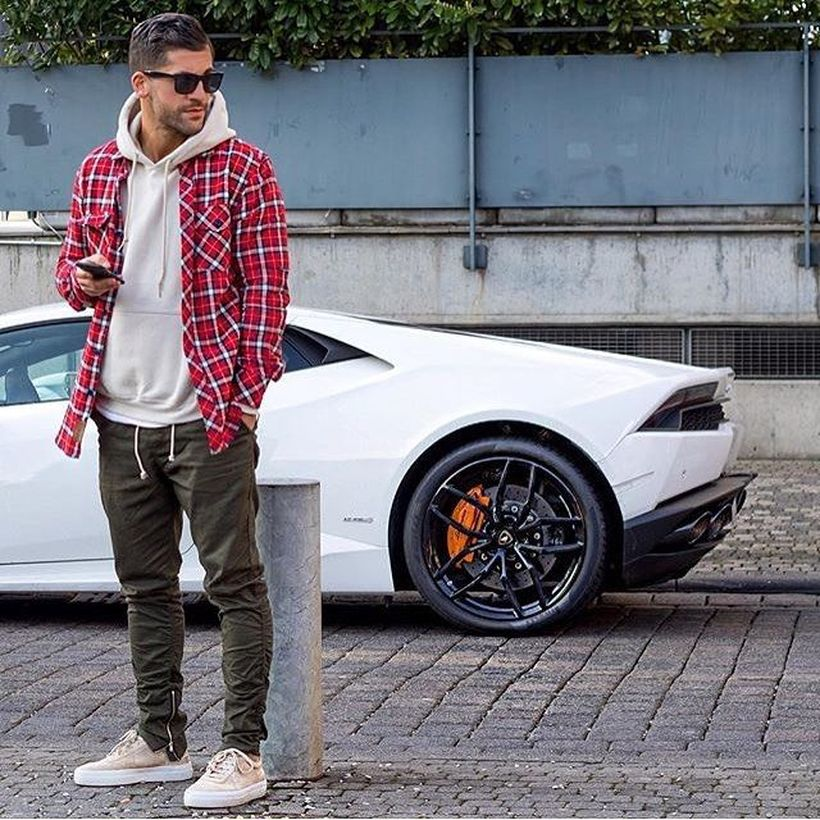 Cool mens joggers outfit ideas 23