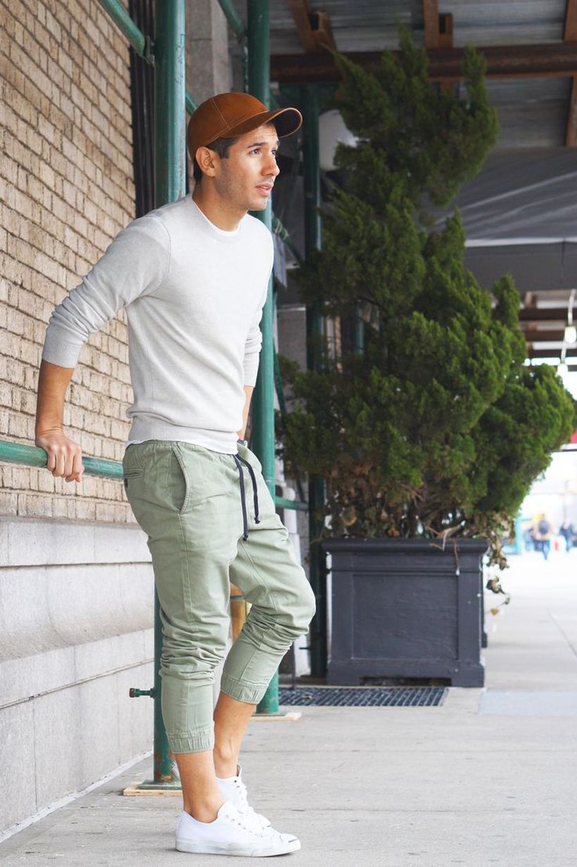 Cool mens joggers outfit ideas 35
