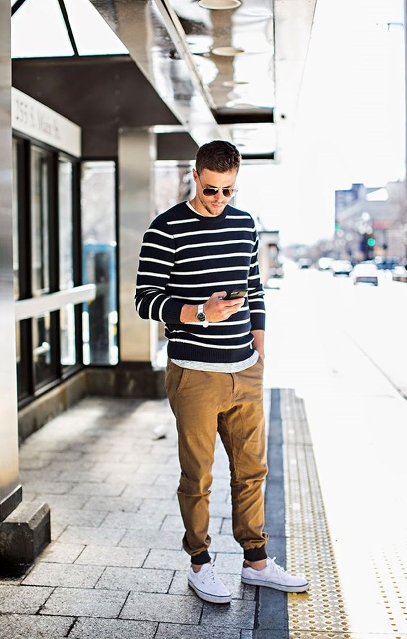 Cool mens joggers outfit ideas 36