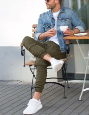 Cool mens joggers outfit ideas 37