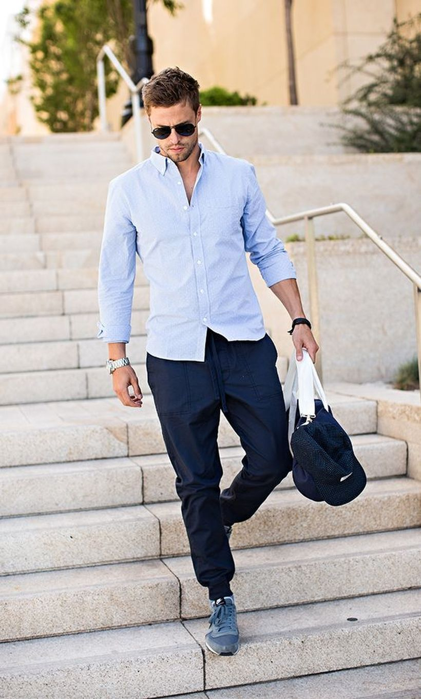 Cool mens joggers outfit ideas 38