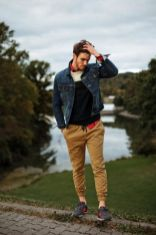 Cool mens joggers outfit ideas 48
