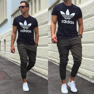 Cool mens joggers outfit ideas 6