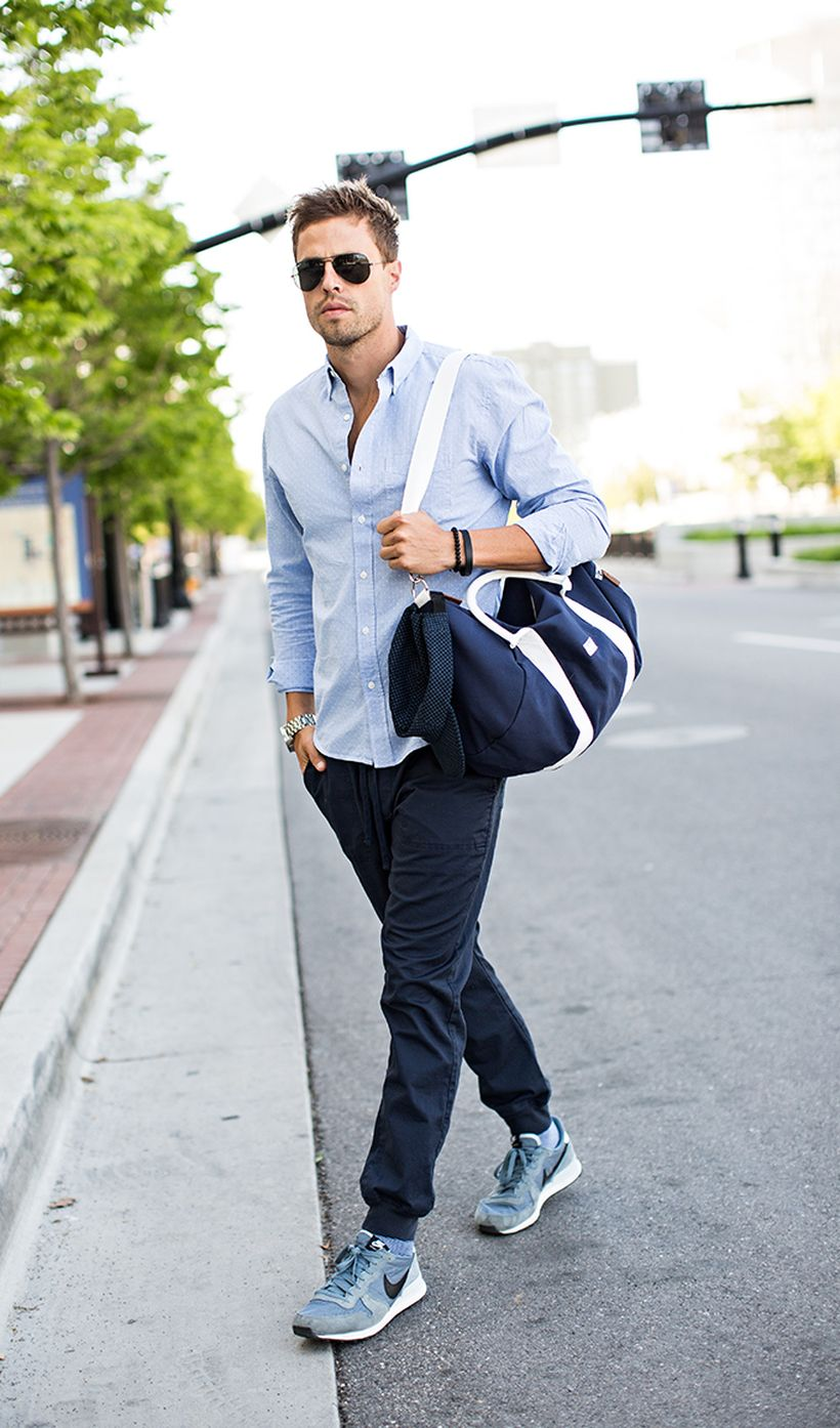 Cool mens joggers outfit ideas 7