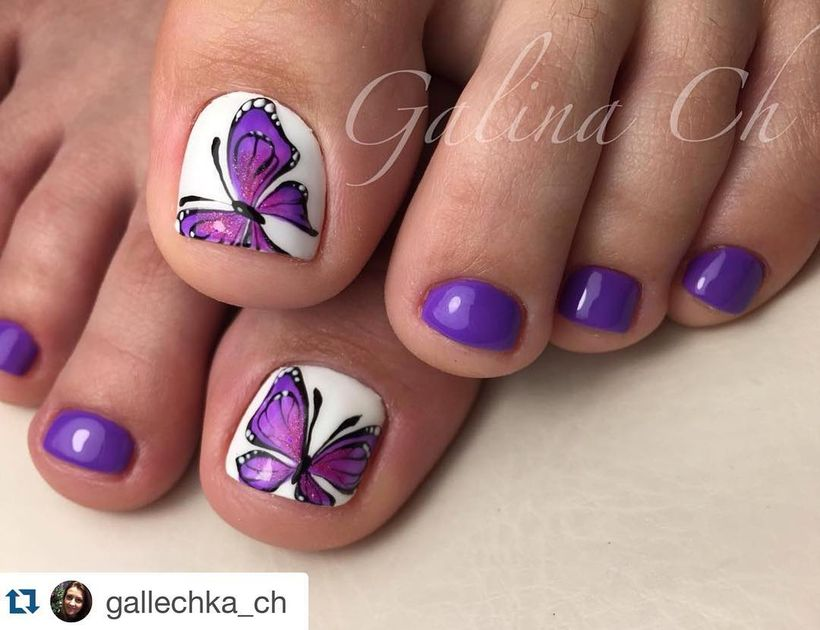 Cool summer pedicure nail art ideas 69