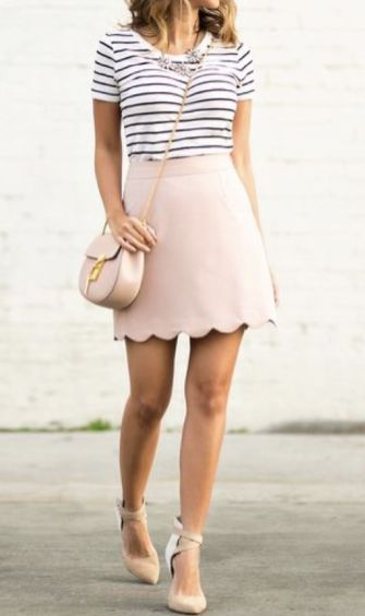 Cool tshirt and skirt for everyday outfits 52