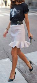 Cool tshirt and skirt for everyday outfits 59