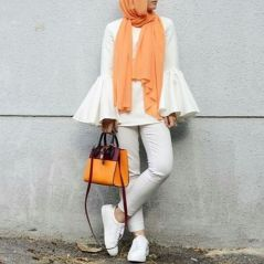 Elegant muslim outift ideas for eid mubarak 25