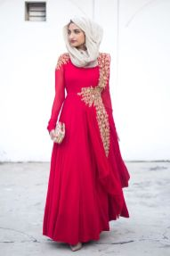 Elegant muslim outift ideas for eid mubarak 38