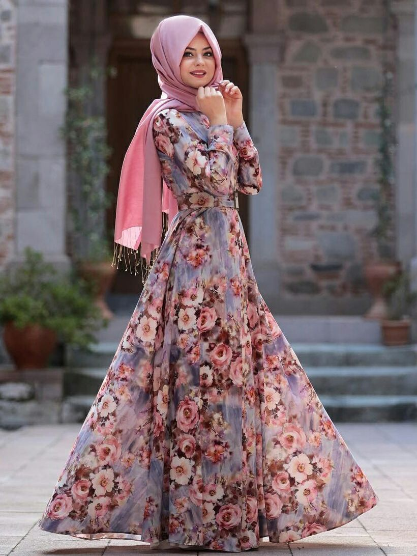 Elegant muslim outift ideas for eid mubarak 41
