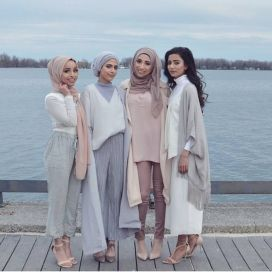 Elegant muslim outift ideas for eid mubarak 48