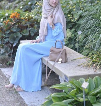 Elegant muslim outift ideas for eid mubarak 52