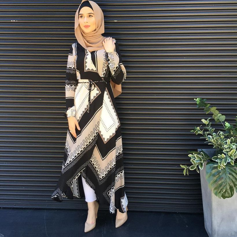 Elegant muslim outift ideas for eid mubarak 82