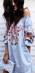 Fabulous boho open shoulder outfits ideas 22