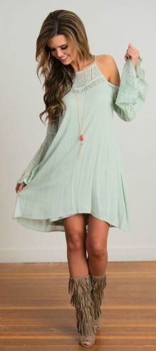 Fabulous boho open shoulder outfits ideas 39