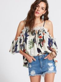 Fabulous boho open shoulder outfits ideas 48
